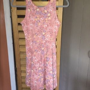 Old navy. Pink floral pattern sun dress.